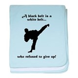 Black Belt Refusal baby blanket