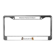 Unique Miniature pinscher License Plate Frame