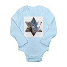 Jewish Star Long Sleeve Infant Bodysuit