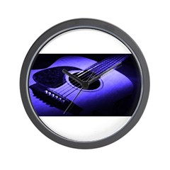 Blue Guitar Wall Clock