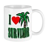 I Heart Survivor Mug