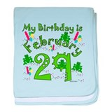 Leap Year Birthday Feb. 29th baby blanket