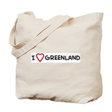 I Love Greenland Tote Bag