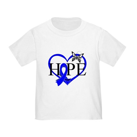 Colon Cancer Hope Heart Toddler T-Shirt