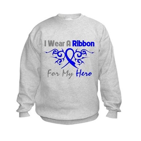 Colon Cancer Hero Tribal Kids Sweatshirt