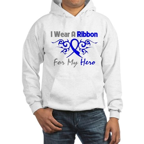Colon Cancer Hero Tribal Hooded Sweatshirt