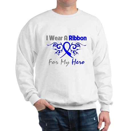 Colon Cancer Hero Tribal Sweatshirt
