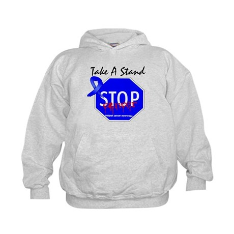 Stop Colon Cancer Kids Hoodie