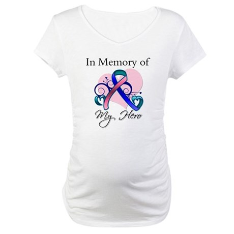 In Memory Thyroid Cancer Maternity T-Shirt
