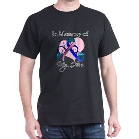 In Memory Thyroid Cancer Dark T-Shirt