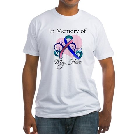 In Memory Thyroid Cancer Fitted T-Shirt