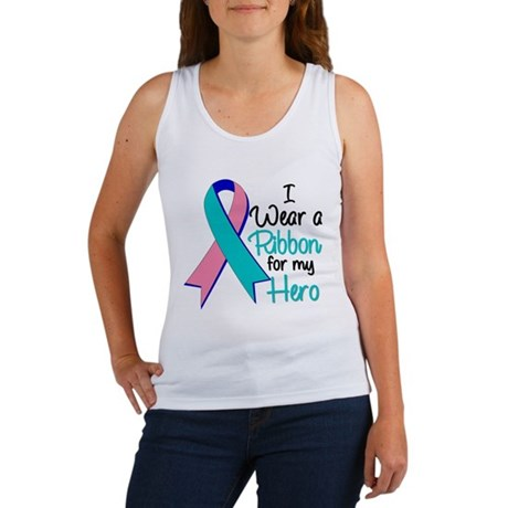 I Wear Ribbon Thyroid Cancer Women's Tank Top