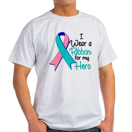 I Wear Ribbon Thyroid Cancer Light T-Shirt