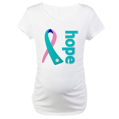 Hope Thyroid Cancer Maternity T-Shirt