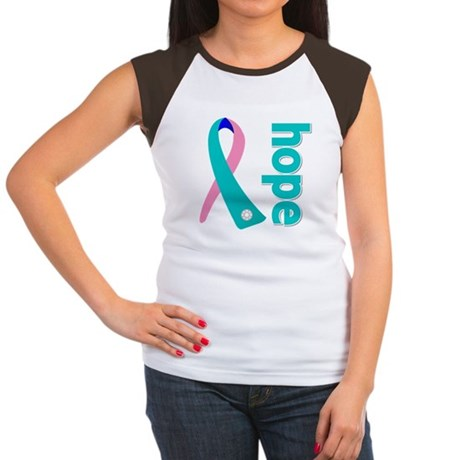 Hope Thyroid Cancer Women's Cap Sleeve T-Shirt