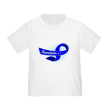 Colon Cancer Survivor Star Toddler T-Shirt