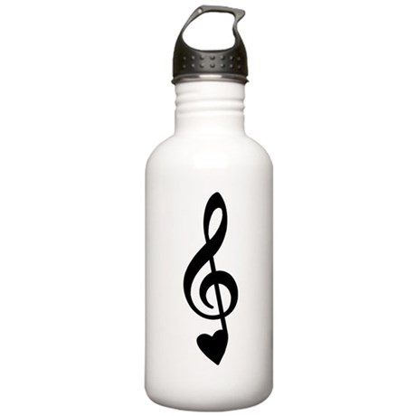 Treble Love Note Stainless Water Bottle 1.0L