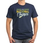 2010 Nat10nal Champs Men's Fitted T-Shirt (dark)