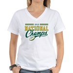2010 Nat10nal Champs Women's V-Neck T-Shirt