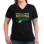 2010 Nat10nal Champs Women's V-Neck Dark T-Shirt