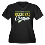 2010 Nat10nal Champs Women's Plus Size V-Neck Dark