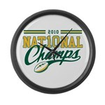 2010 Nat10nal Champs Large Wall Clock