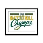 2010 Nat10nal Champs Framed Panel Print
