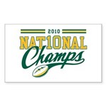 2010 Nat10nal Champs Sticker (Rectangle 50 pk)