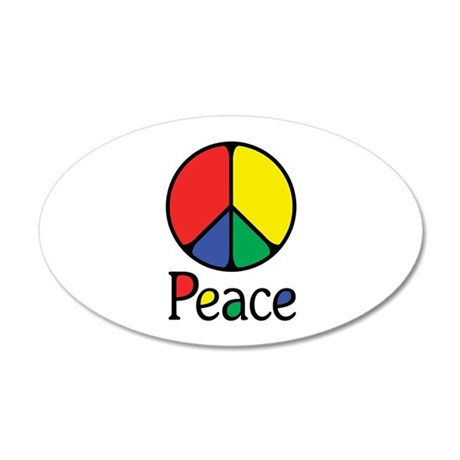 Elegant Colourful Peace 20x12 Oval Wall Decal