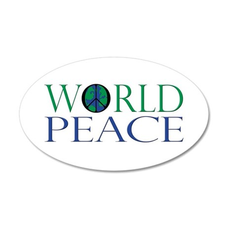 World Peace 35x21 Oval Wall Decal