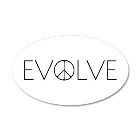 Evolve Peace Narrow 20x12 Oval Wall Decal
