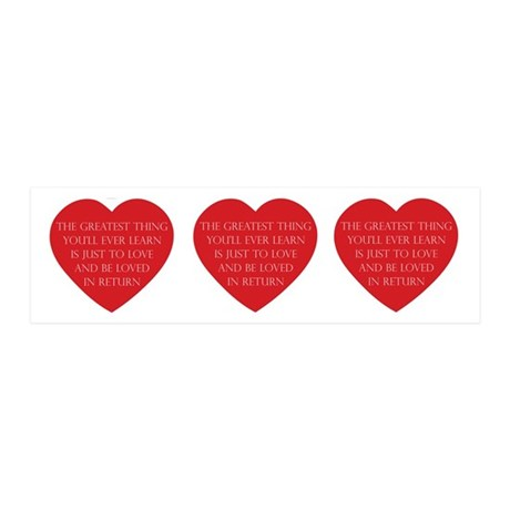 Love and be Loved 20x6 Wall Decal 21x7 Wall Peel