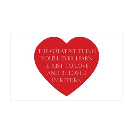 Love and be Loved 35x21 Wall Decal 38.5x24.5 Wall Peel