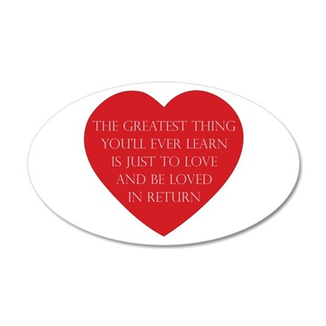Love and be Loved 35x21 Oval Wall Decal 38.5x24.5 Oval Wall Peel