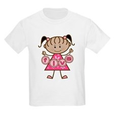 Little Girl 5th Birthday T-Shirt