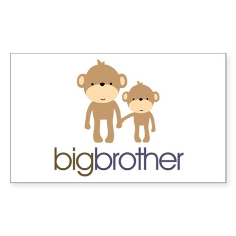 Big Brother Monkey Sticker (Rectangle)