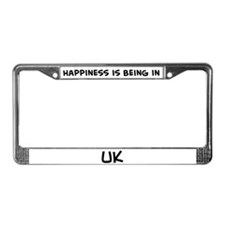 Happiness is Uk License Plate Frame