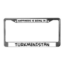 Happiness is Turkmenistan License Plate Frame