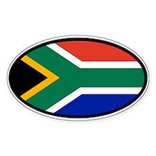 South Africa ZA Flag Car Bumper Sticker Decal Oval