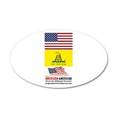 American-American Movement 22x14 Oval Wall Peel