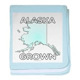 Alaska grown baby blanket