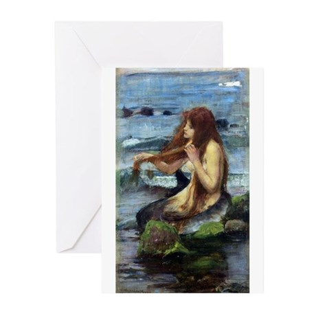 A Mermaid (study) Greeting Cards (Pk of 10)