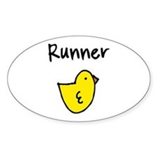 Runner Chick Decal