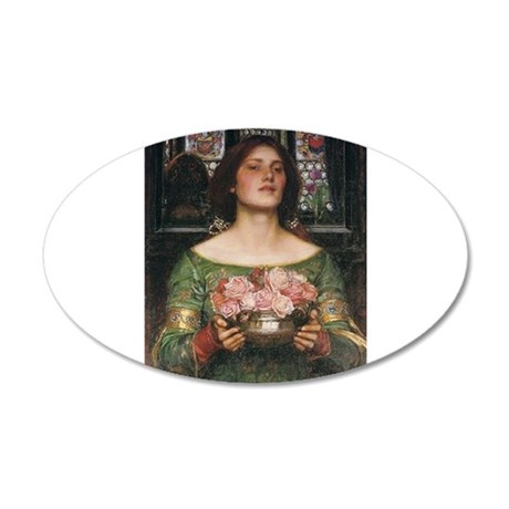 Gather Ye Rosebuds 38.5 x 24.5 Oval Wall Peel