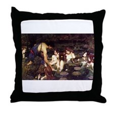 Hylas and the Nymphs Throw Pillow