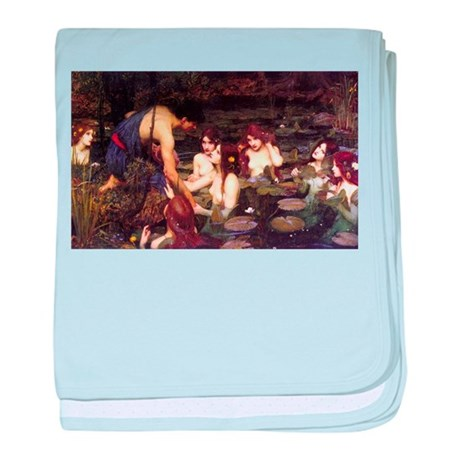 Hylas and the Nymphs baby blanket