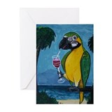 Drunk Parrot Greeting Cards (Pk of 20)