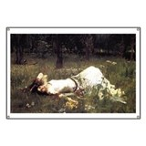 Ophelia Lying in the Meadow Banner