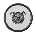 Purim Shpielers & Squealers Large Wall Clock