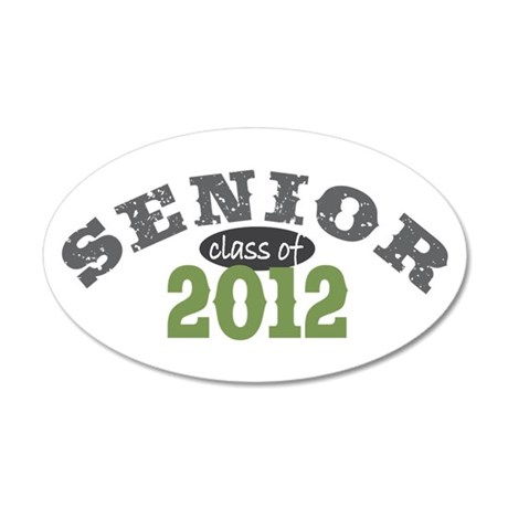 Senior Class of 2012 38.5 x 24.5 Oval Wall Peel